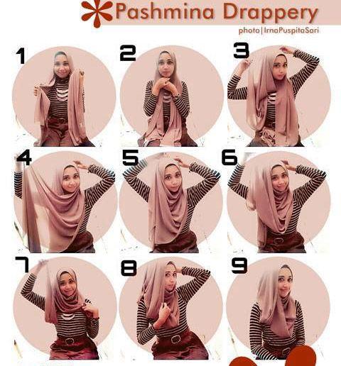 Hijab tutorial - Pashmina drappery