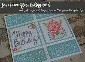 Julie Kettlewell - Stampin Up UK Independent Demonstrator - Order products 24/7: Never Ending Card