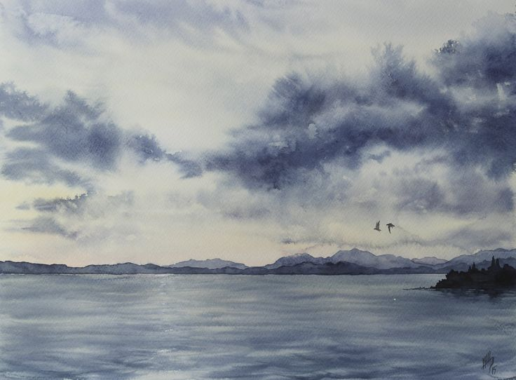 Evening. The Lake Garda. / Shchepetnova Natalia.