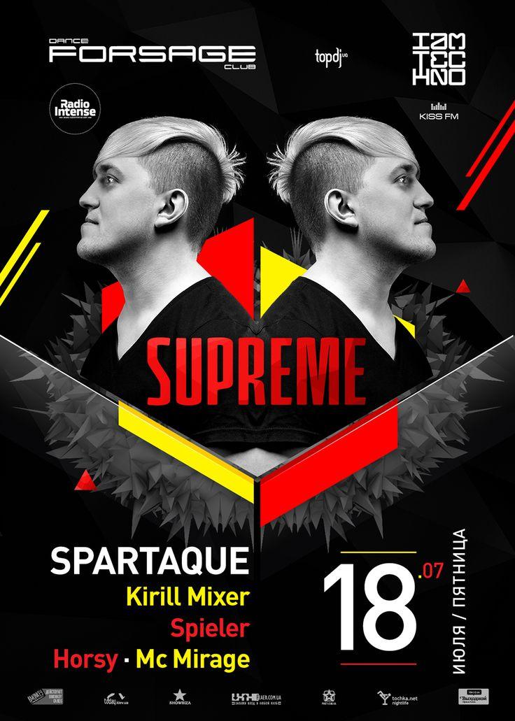 Supreme / Dj Spartaque party poster design #design #poster #posterdesign