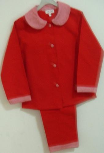 Pijama de flanela infantil feminino