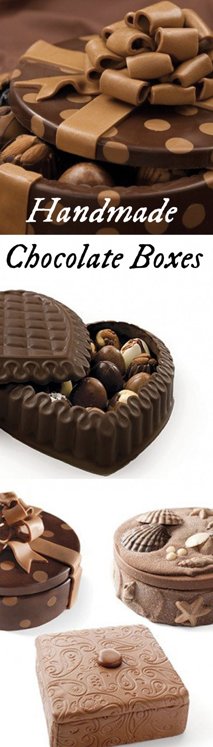 Truffle-filled handmade chocolate boxes make a great Valentine's Day gift.