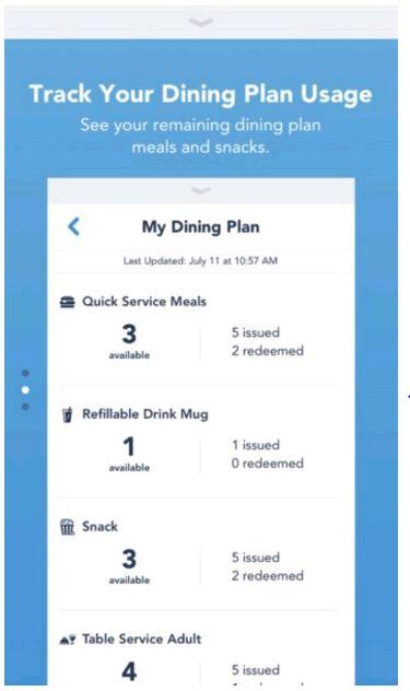 Disney World App Dining Credits Update! Disney