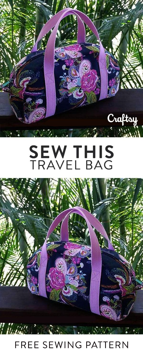 Sew your own travel bag. This free sewing pattern is perfect beginner project.