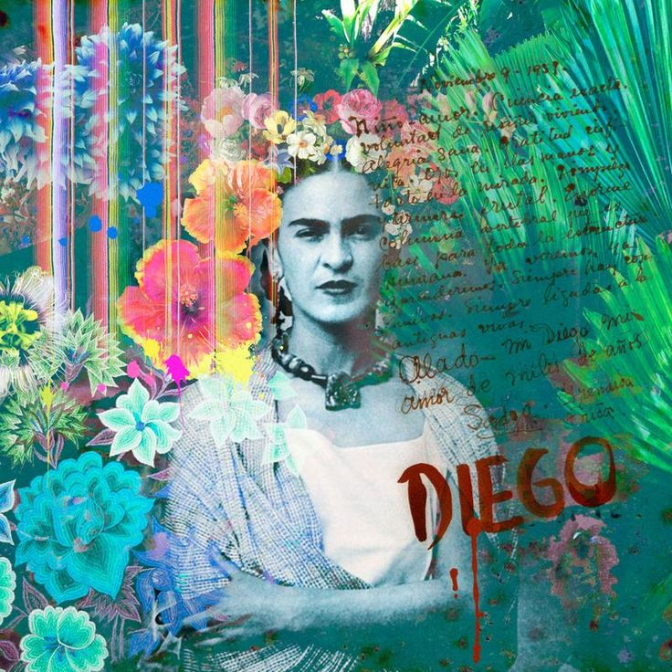 Frida kahlo inspired wall mural by back to the wall