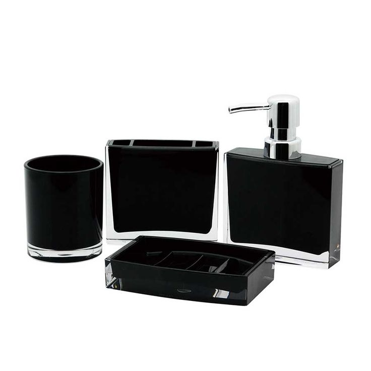 black glitter bathroom accessories. Contemporary Black Finish Canyon Plastic Acrylic Accessories Set  KBS CBAK2300K Best 25 bathroom accessory sets ideas on Pinterest