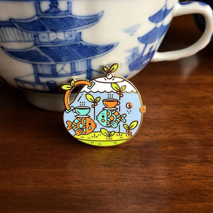 Tea Time Tearrarium Pin by mochichito on Etsy