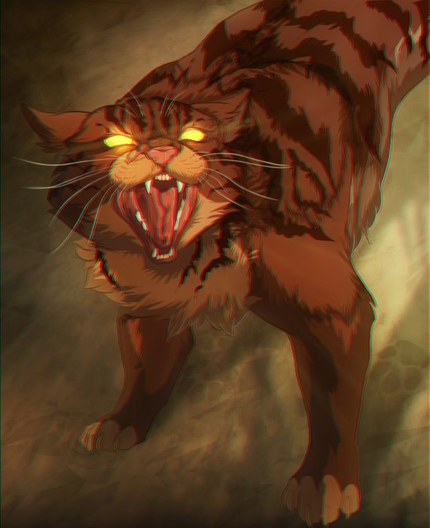 FUN FACT 2: When Scourge killed Tigerstar, he struck 9 major organs, causing him to loose all nine lives.