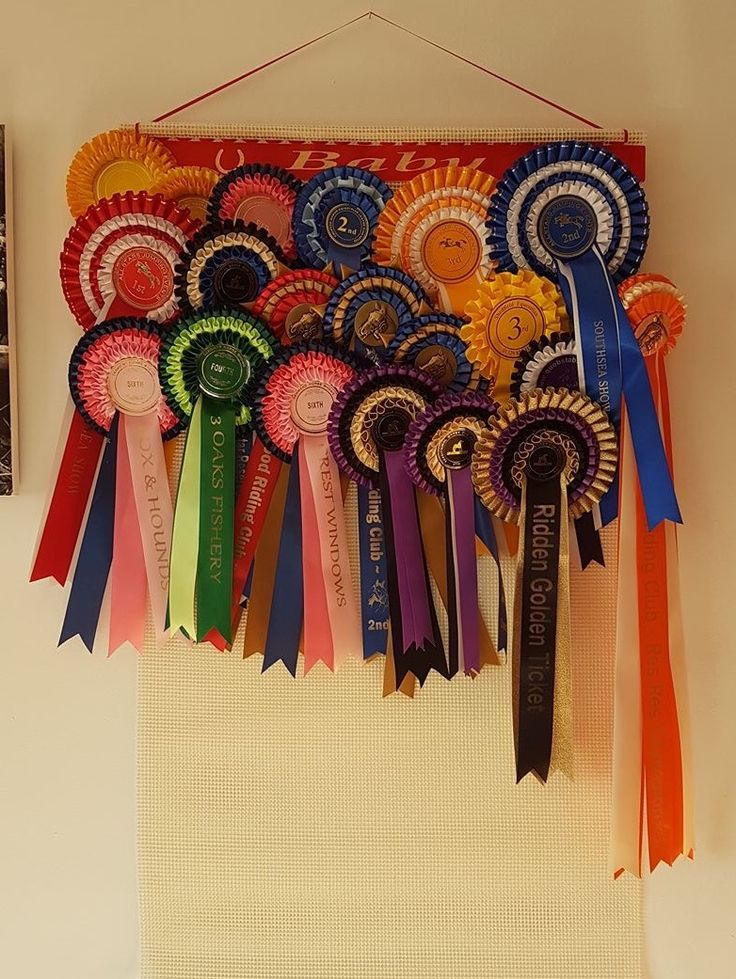 How to display horse show Rosettes