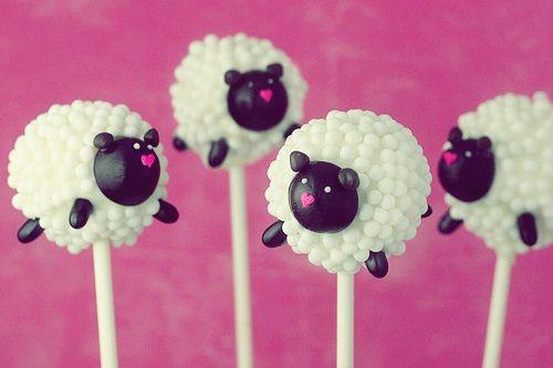 Cake pops en forma de oveja, divinos ♡