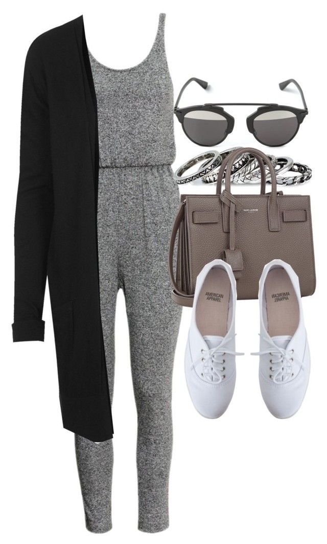 """Style #9476"" by vany-alvarado ❤ liked on Polyvore featuring Christian Dior, H&M, Pieces, Topshop, Yves Saint Laurent and American Apparel"
