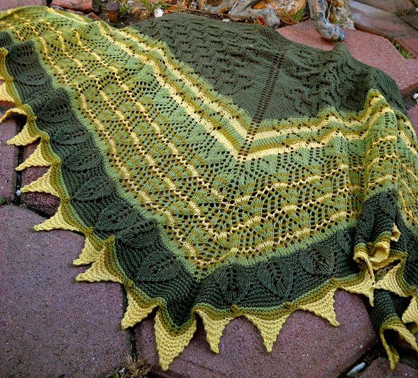 Florine shawl: Knitty Deep Fall 2012