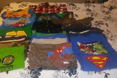 PRE-OWNED 20 piece LOT BOYS CLOTHING SIZE 8 COAT SHIRTS PAJAMAS mixed lot