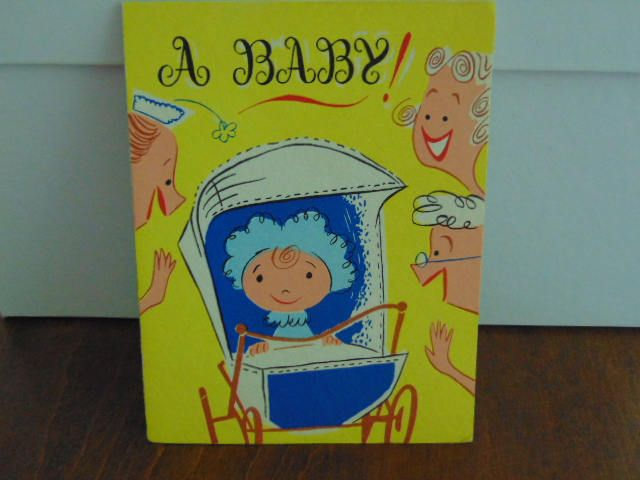 Welcome Baby Card, Funny Card,  Youthful  Card,  1940 Vintage Card, Congratulations Baby  Card, Best Wishes card by simpleholidaydecor on Etsy