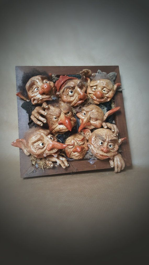 OOAK personalizzato Goblin 3D Hanging Wall Art di FaunleyFae