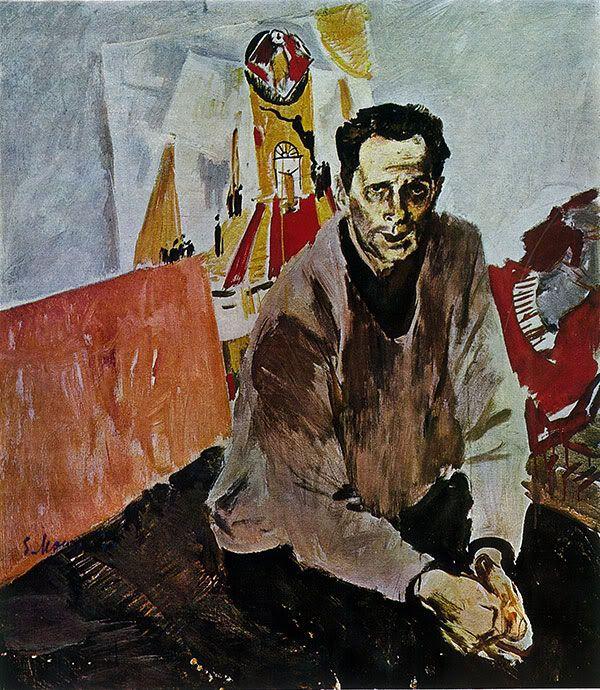 Евсей Моисеенко - Портрет художника Н.Н. Золотарёва. 1967