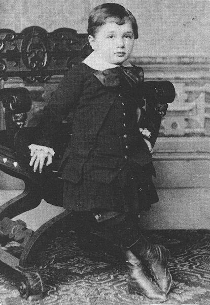 """Einstein was said to be a very slow talker as a child. He is said to not have begun speaking until around the age of five, which worried his parents into believing that he might be """"slow."""" Today the term """"Einstein Syndrome"""" is used to categorize exceptionally bright children who display a delay in speech."""