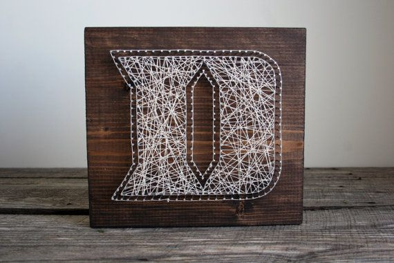 24x24 Duke Blue Devils Reclaimed Wood String Art by RambleandRoost
