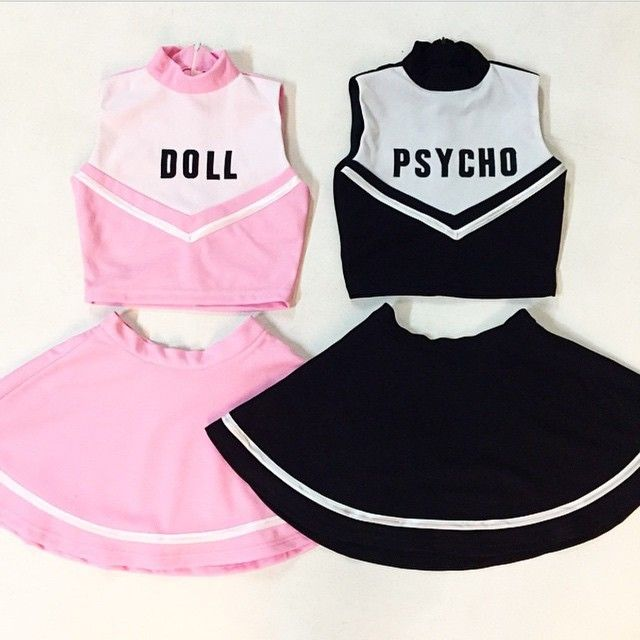 would be cool to do for like halloween the one with doll gets creepy makeup cheerleader halloween costumebest friend - Cute Bff Halloween Costumes