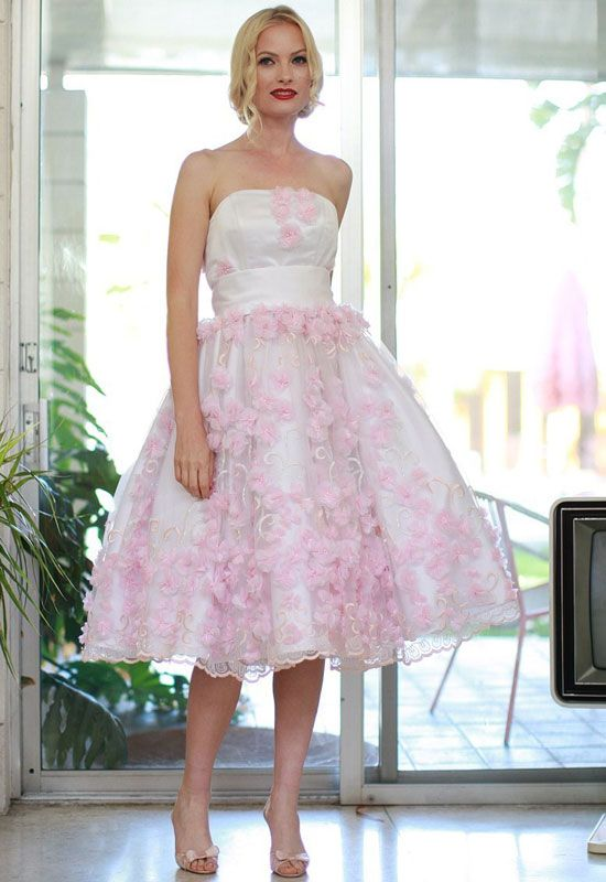 Fancy Colorful Short Vintage Gown