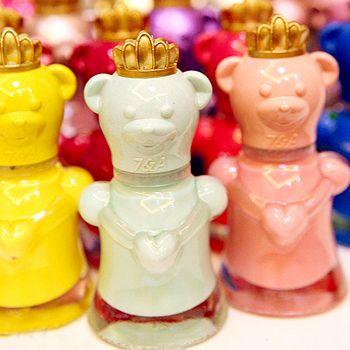 Mode nail art 2014 frais, ours bonbons de couleur de vernis à ongles en acrylique animal ongles kit