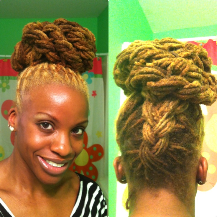 Reverse French Braid Bun. GrizzleRocsLocs on YouTube