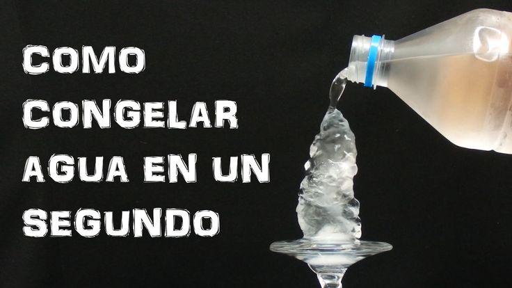 Como Congelar Agua en un Segundo - Hielo Instantaneo (Experimentar En Casa)