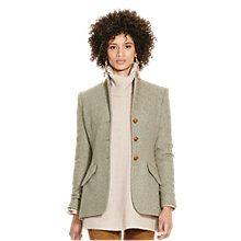 Buy Polo Ralph Lauren Hacking Virgin Wool Jacket, Vintage Olive Online at johnlewis.com