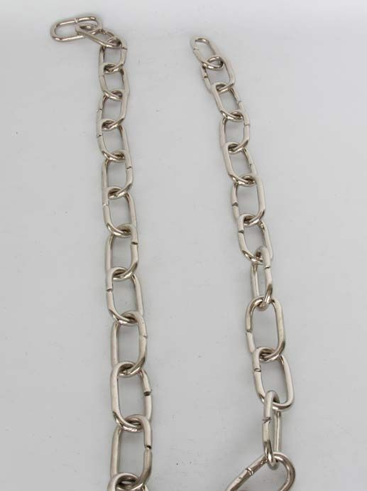 CH-07 Solid Brass Handmade Chain in Polished Nickel