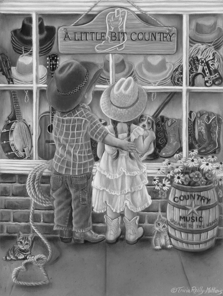 Cowboy & Cowgirl Window Sho9