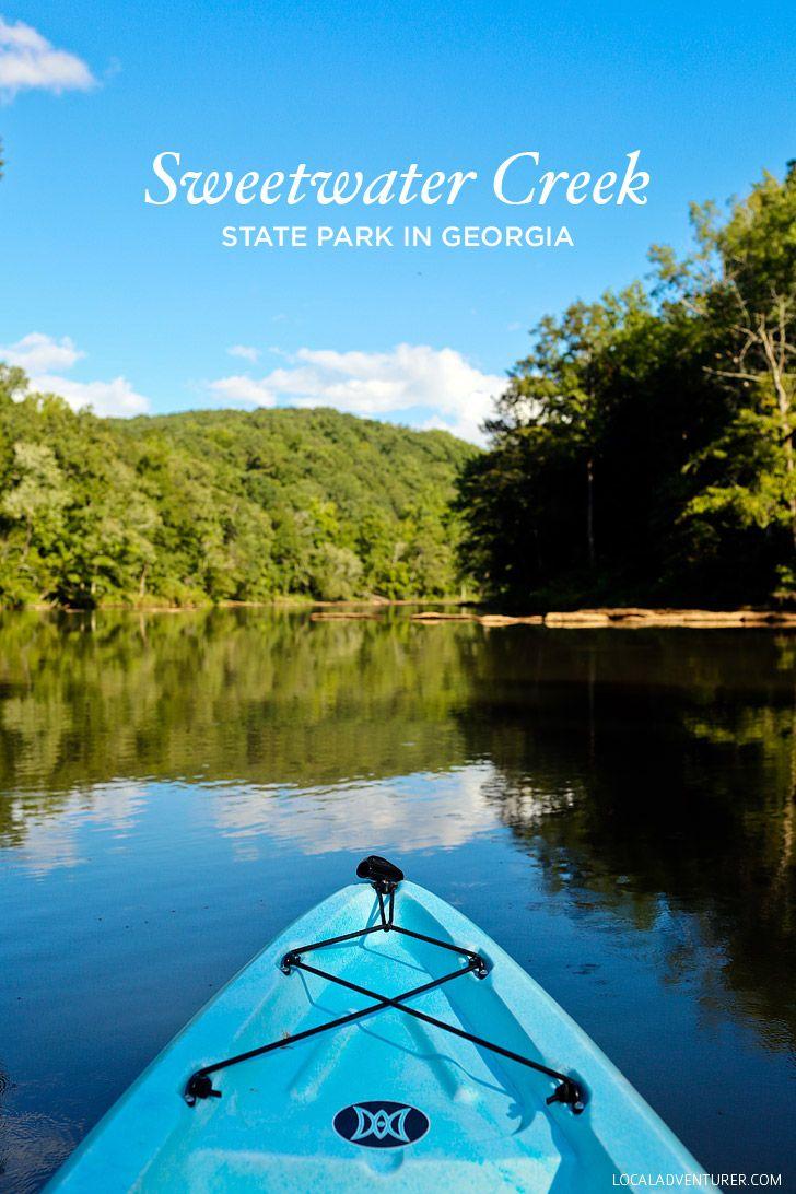 Kayaking Through the Set of Mockingjay at Sweetwater Creek State Park - Lithia…