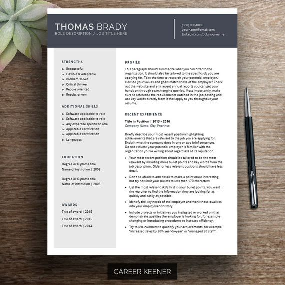 33 best Resume Templates images on Pinterest Professional resume - microsoft word references template