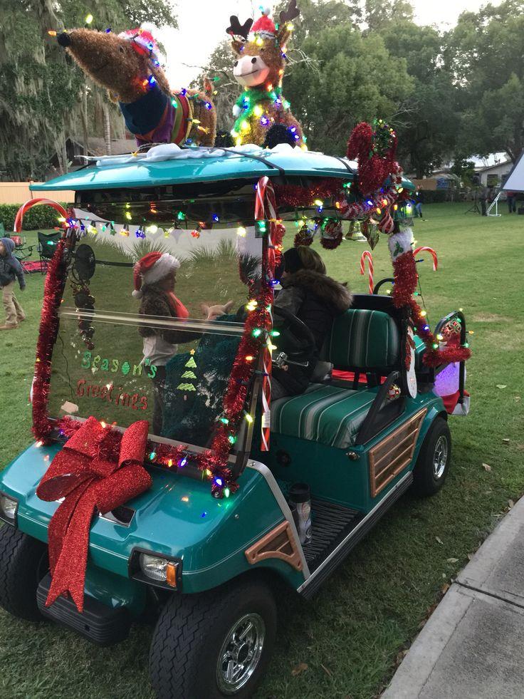 25 best christmas golf cart images on pinterest golf for Golf decoration ideas