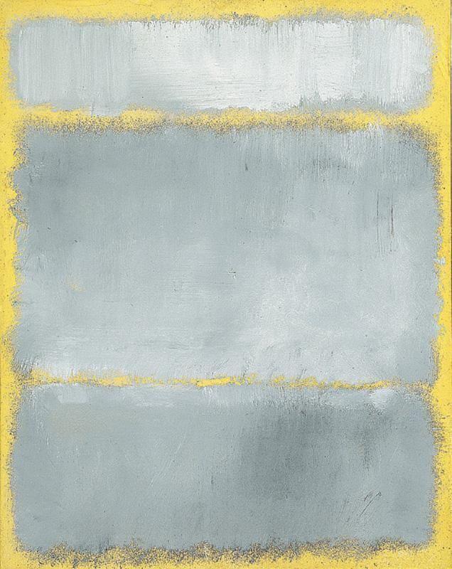 x x x ~ `MARK ROTHKO (1903-1970) - GRAYS IN YELLOW'