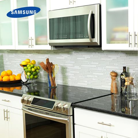 This weekend, get the new Slide-In Electric Range for a sleek, built-in look that appears to be customized with your kitchen.