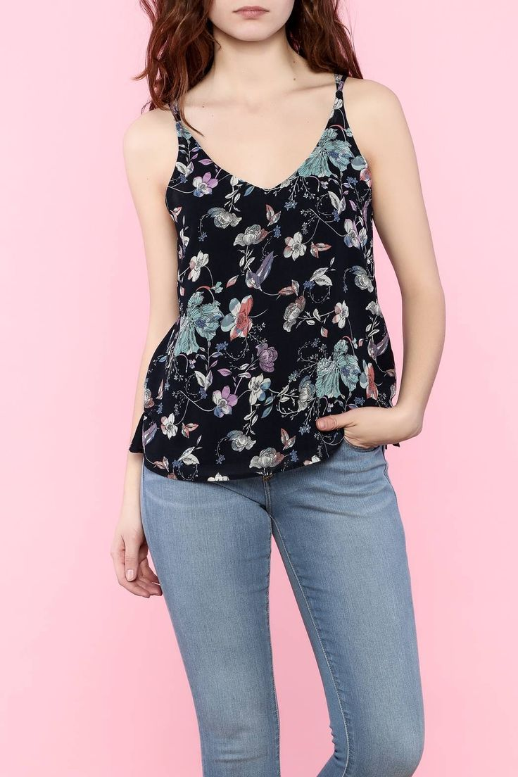 Double strap back floral cami top. Floral Cami Top by Dex. Clothing - Tops - Tees & Tanks Denver, Colorado