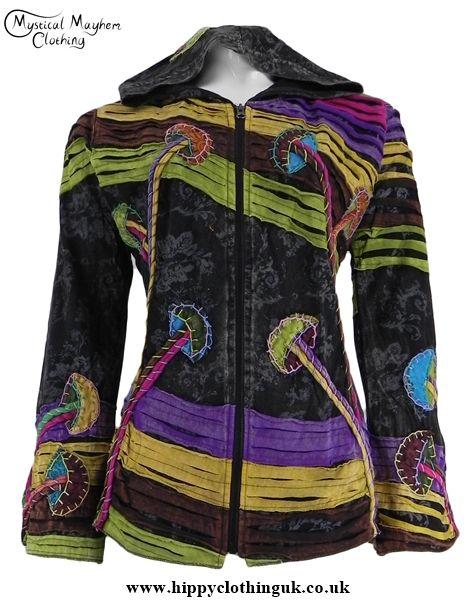 Bares Nepalese Mushroom Pixie Hooded Cotton Jacket