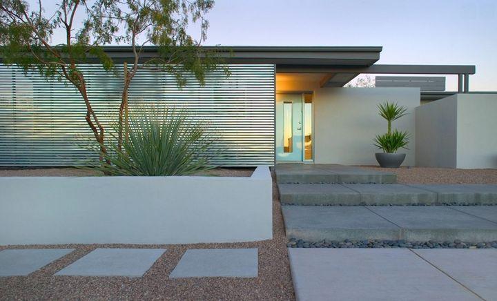 Casas com Brise-soleil em fachadas