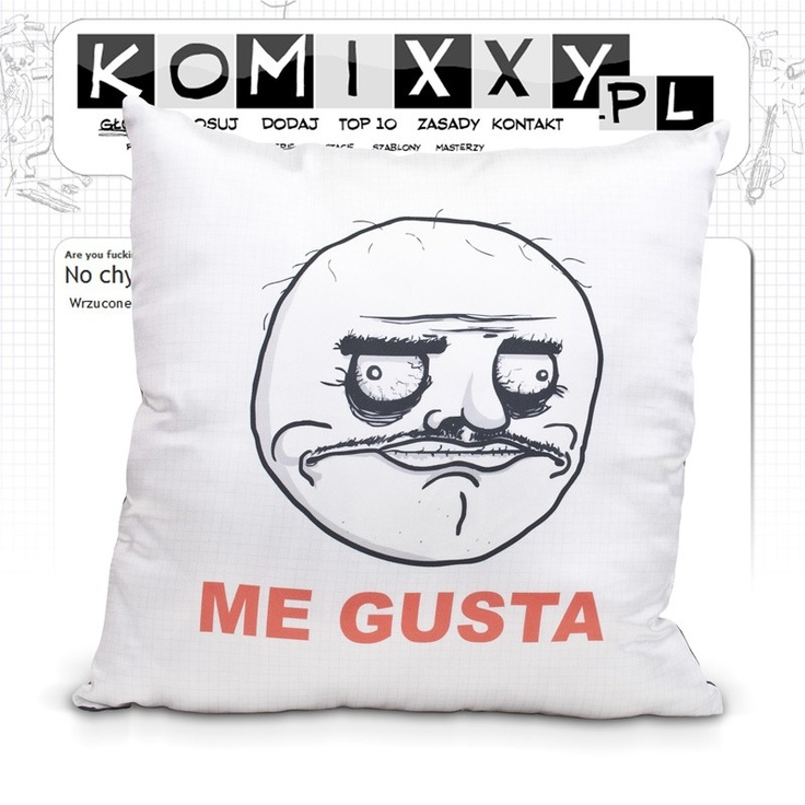 Me Gusta pillow