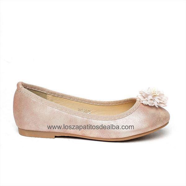 Zapatos ceremonia niña rosa  modelo Silvestre