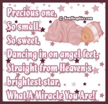 Girl pink precious one so small so sweet Graphic plus many other high quality Graphics for your Facebook profile at KewlGraphics.com.