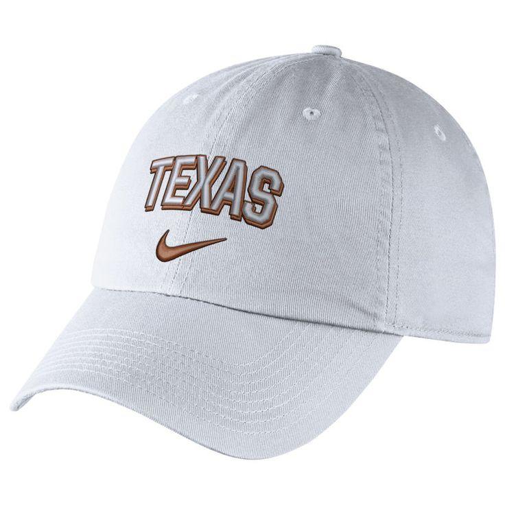 Texas Longhorns Nike Heritage 86 Wordmark Adjustable Hat - White