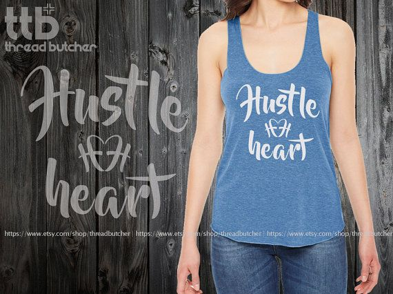 Hustle  Heart printed on American Apparel by threadbutcher on Etsy