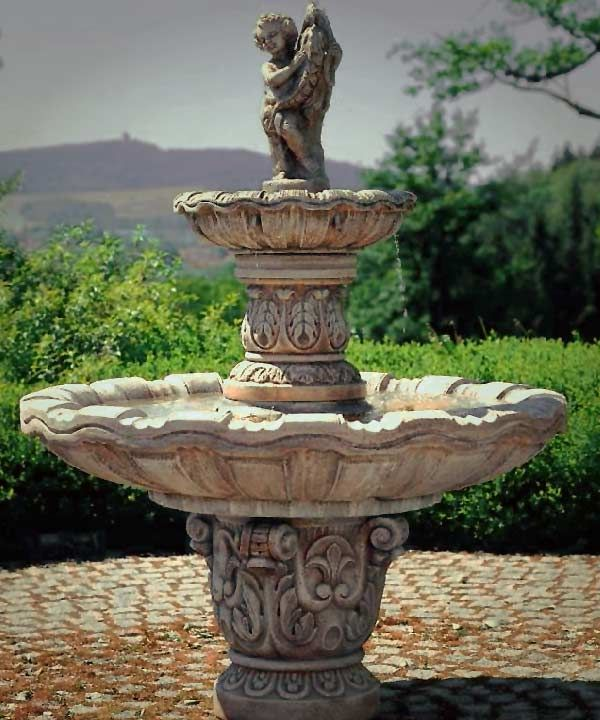 H92cm Imperial Solar Tiered Water Fountain by Solaray