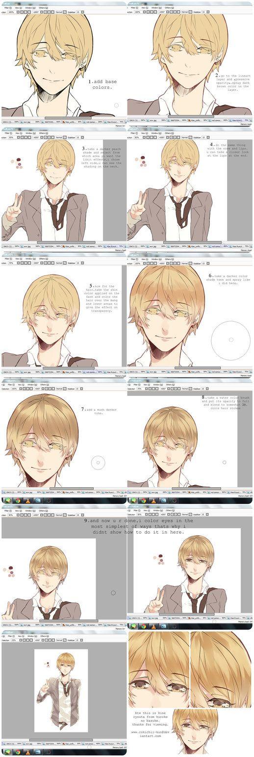 Skin+Hair Tutorial by Mono-k