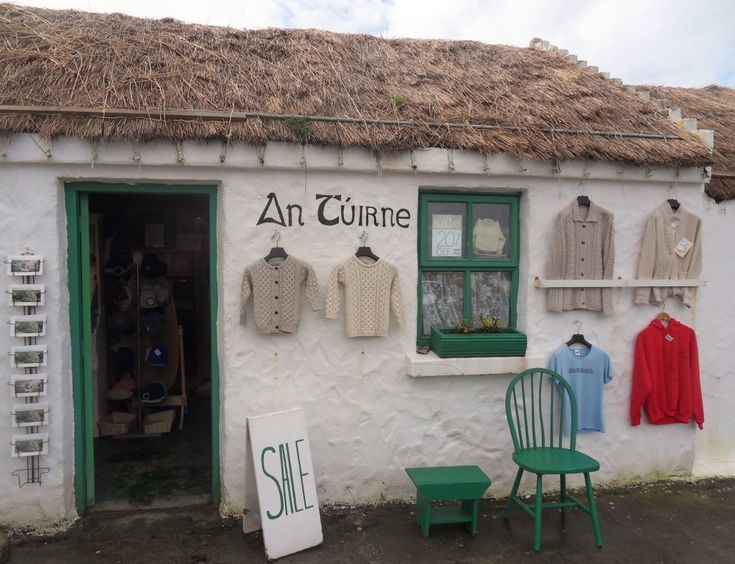 aran islands Ireland, cottage. It was here or in a similar place I purchased my Aran sweater.