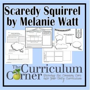 Printable Activities for the Scaredy Squirrel Books by Melanie Watt | FREE | The Curriculum Corner