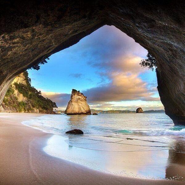 Cueva de la catedral, Nueva Zelanda ☀