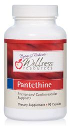 Pantethine is the biologically active form of vitamin B5, more absorbable than pantothenic acid. Wellness Resources Pantethine contains 300mg pure pantethine per capsule. Pantethine helps energy, mental focus, mood, cholesterol, adrenals. Pantethine is the active form of vitamin B5, the form the body naturally makes in order to produce Coenzyme A (CoA).