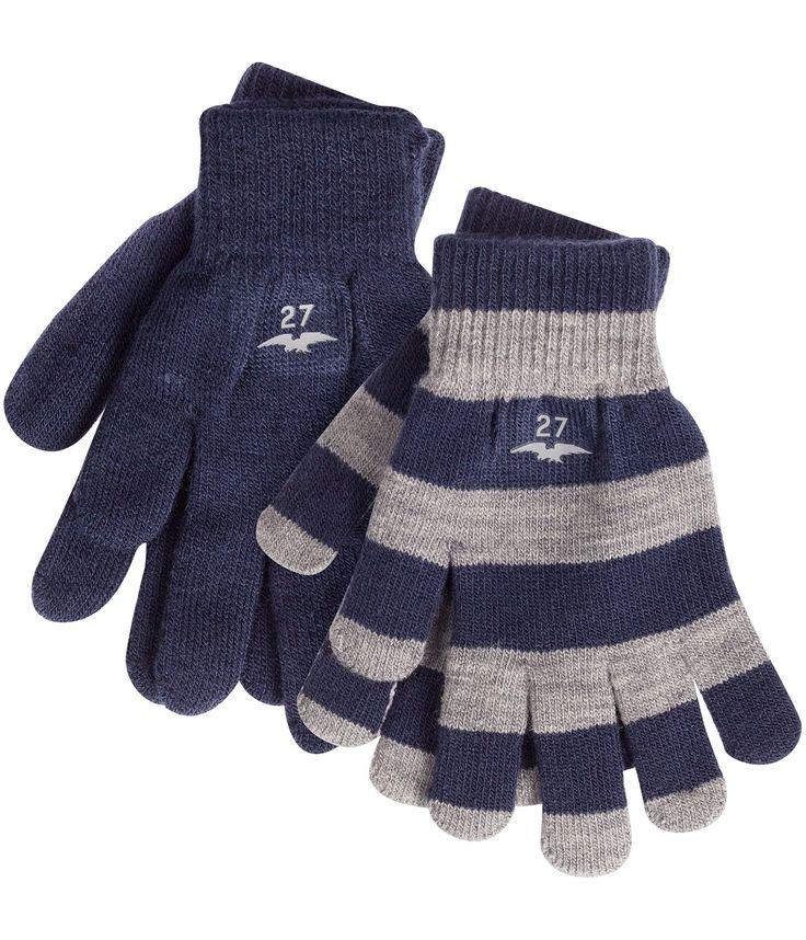 Tvåpack magic gloves 1solid, 1stripe